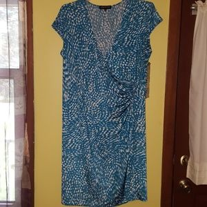 Adorable blue/green stretchy dress